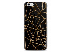 Coque iPhone 6/6S Black & Gold geometric triangle marble