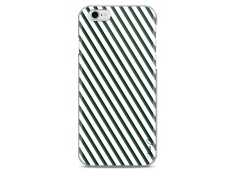 Coque iPhone 6Plus/6SPlus White & Green geometric forms