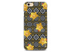 Yellow flowers with aztec pattern