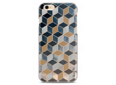 Coque iPhone 6/6S Blue & Brown Geometric Pattern