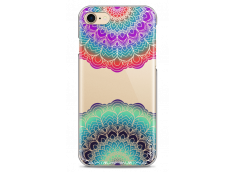 Coque iPhone 7/8 Cercles Multicolor Galaxy Mandala