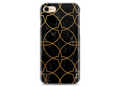 Coque iPhone 7/8 Black & Gold geometric marble