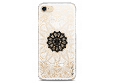 Coque iPhone 7/8 Black Flower Mandala