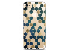 Coque iPhone 7Plus/8Plus Blue & Gold Cubic