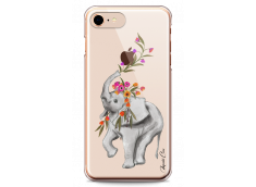 Coque iPhone 7/iPhone 8 Boho Elephant with Flowers