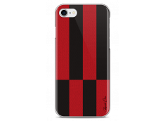 Coque iPhone 7/8 Red & Brown geometric forms