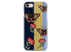 Coque iPhone 7/iPhone 8 Butterflies and flowers on geometric forms
