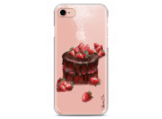 Coque iPhone 7/8 Chocolate and strawberries cake