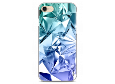 Coque iPhone 7/8 Cristal blue geometric design