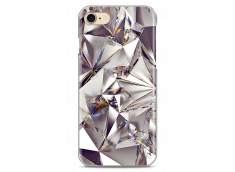 Coque iPhone 7Plus/8Plus Purple cristal geometric design