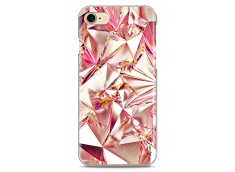 Coque iPhone 7Plus/8Plus Pink cristal geometric design