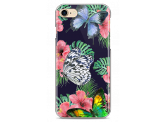 Coque iPhone 7/iPhone 8 Butterflies and flowers watercolor