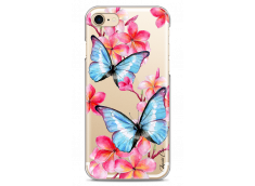 Coque iPhone 7/8 Blue watercolor butterflies