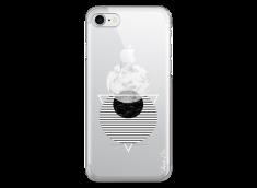 Coque iPhone 7/8 Silver Cercles Géométriques en marbre