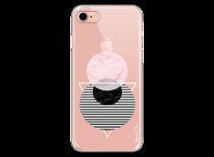 Coque iPhone 7Plus/8Plus Pink Cercles Géométriques en marbre