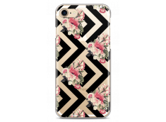 Coque iPhone 7/iPhone 8 Black geometric flowers