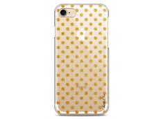 Coque iPhone X Gold glitter dots