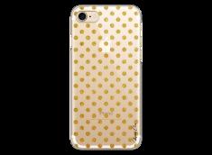 Coque iPhone 7Plus/8Plus Gold glitter dots