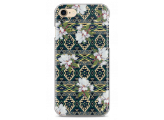 Coque iPhone 7/iPhone 8 Green aztec with flowers