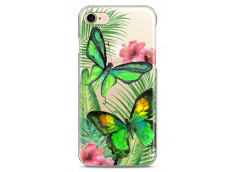Coque iPhone 7/8 Green watercolor butterflies