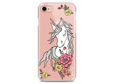 Coque iPhone 7/8 Licorne & Flowers design