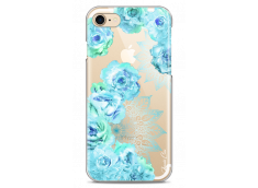 Coque iPhone 7/iPhone 8 Mandala & Blue Flowers