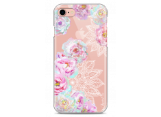 Coque iPhone 7/iPhone 8 Mandala & Pink Flowers