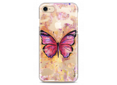 Coque iPhone 7/8 Pink watercolor butterfly
