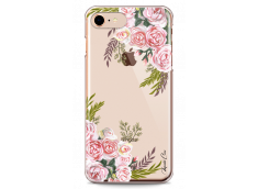 Coque iPhone 7/iPhone 8 Pink Flowers Painted