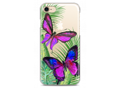 Coque iPhone 7/8 Fuchsia watercolor butterflies