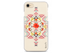 Coque iPhone 7/iPhone 8 Red aztec with flowers