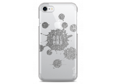 Coque iPhone 7Plus/8Plus Silver Glitter - Girl Power