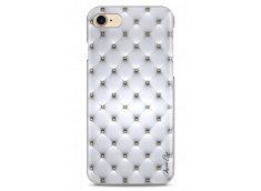 Coque iPhone 7/8 Soft silver & glitter pattern