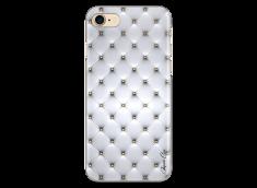 Coque iPhone 7Plus/8Plus Soft silver & glitter pattern