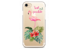 Coque iPhone 7/8 Tropical watercolor flamingo