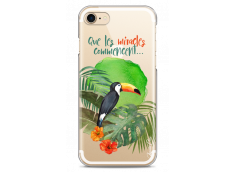 Coque iPhone 7/8 Tropical watercolor design Que les miracles commencent