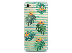 Coque iPhone 7/8 Tropical watercolor striped leaves