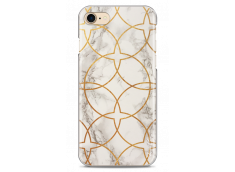 Coque iPhone 7Plus/8Plus White & Gold geometric marble