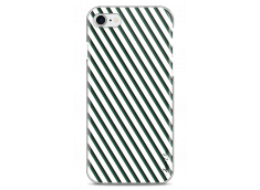 Coque iPhone 7Plus/8Plus White & Green geometric forms