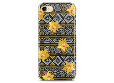 Coque iPhone 7/iPhone 8 Yellow flowers with aztec pattern