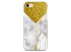 Coque iPhone 7Plus/iPhone 8Plus Gold, Glitter and Marble