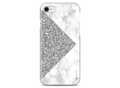 Coque iPhone 7/iPhone 8 Silver Glitter and Marble