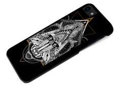 Coque iPhone 7 Black Collection Ethnic-Babouin
