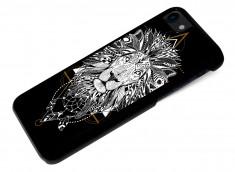 Coque iPhone 7 Black Collection Ethnic-Lion
