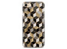 Coque iPhone 7/8 Cubic Gold & Black Geometric Pattern