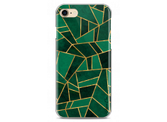 Coque iPhone 7/8 Green & Gold Geometric Pattern