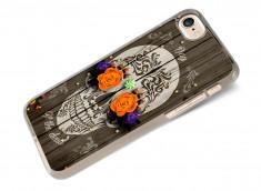 Coque iPhone 7 Flowers Skull
