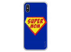 Coque iPhone X Super Mom
