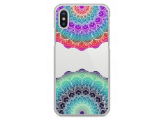 Coque iPhone X Cercles Multicolor Galaxy Mandala