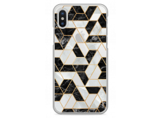 Coque iPhone X Artistic geometric marble